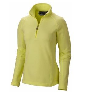 Mountain Hardware Microchill Zip T Fleece Neon
